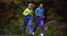 pareja de corredores